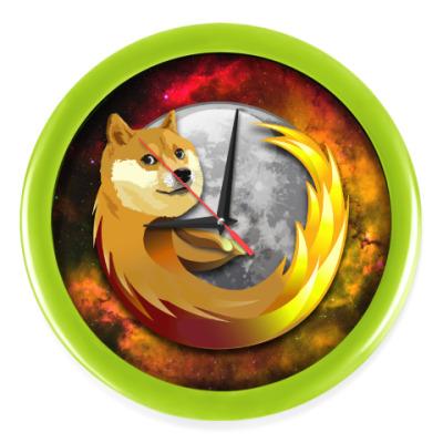 Настенные часы Doge Firefox