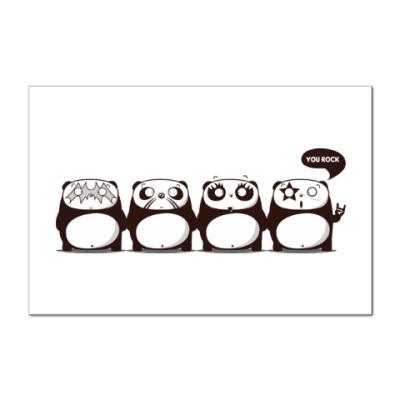 Наклейка (стикер) Kiss Panda