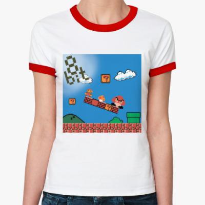 Женская футболка Ringer-T mario 8 bit