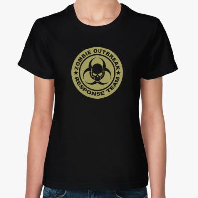 Женская футболка Zombie outbreak response team