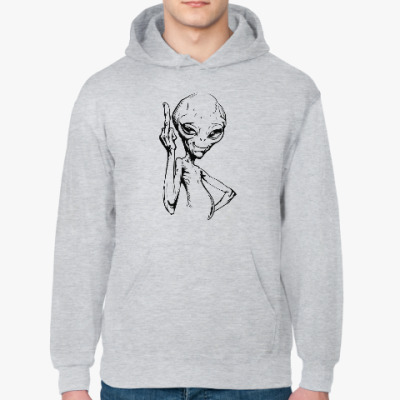 Толстовка худи смешной пришелец (funny alien)