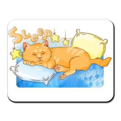 Коврик для мыши Сонный кот