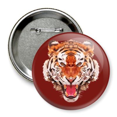 Значок 75мм Тигр