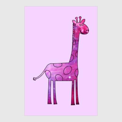 Постер Космический Жираф
