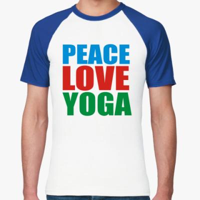 Футболка реглан Мир Любовь Йогау