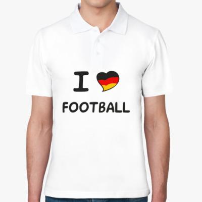 Рубашка поло Я люблю немецкий футбол