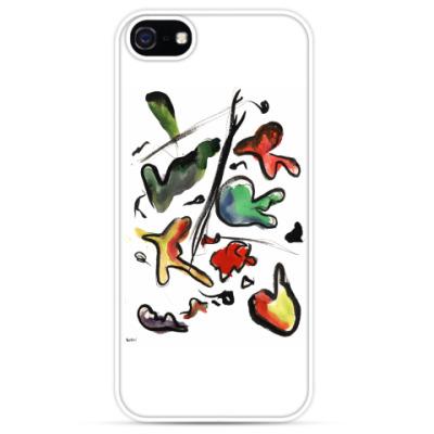 Чехол для iPhone Чехол для iPhone 5 белый «БУБЛГУМ»