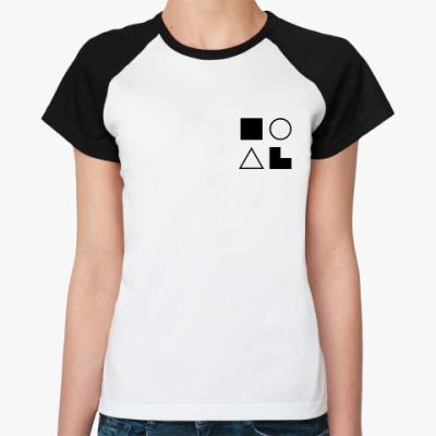 Женская футболка реглан  ЛСЭ (Штирлиц)
