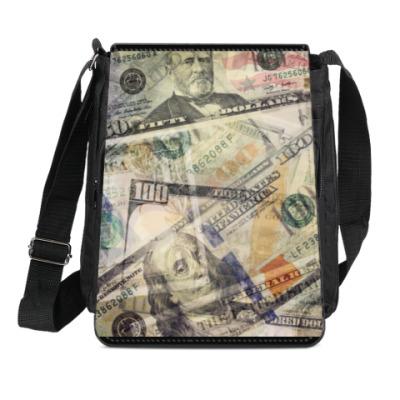 Сумка-планшет доллары