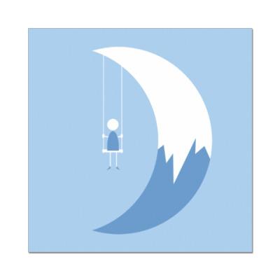 Наклейка (стикер) Качели на Луне