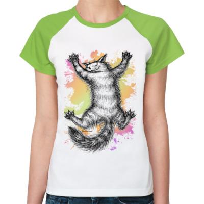 Женская футболка реглан Ласковый зверь