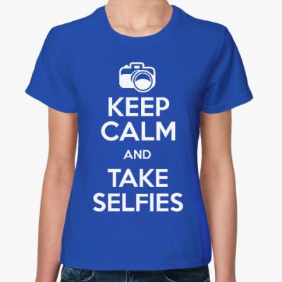 Женская футболка Делай селфи