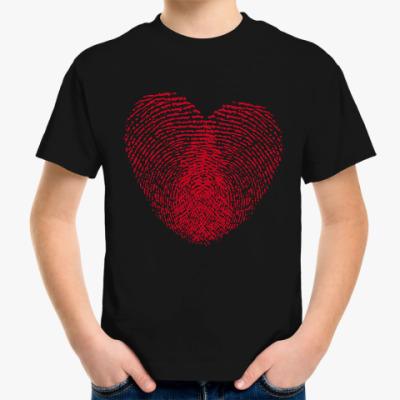 Детская футболка Отпечатки Любви