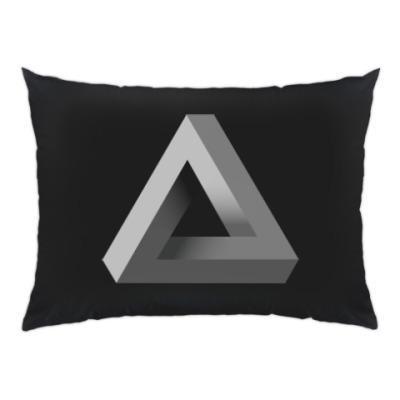 Подушка Невозможный Треугольник 3D