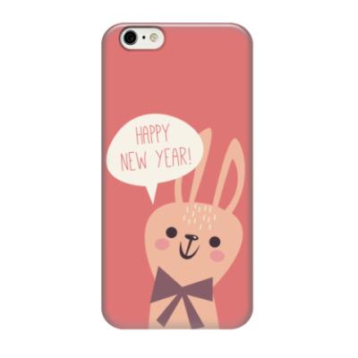 Чехол для iPhone 6/6s Новогодний заяц