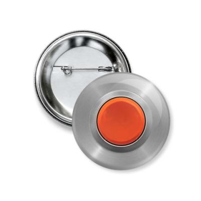 Значок 37мм Красная кнопка