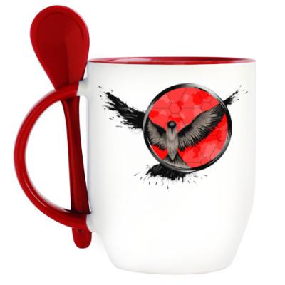 Кружка с ложкой сова ловец снов