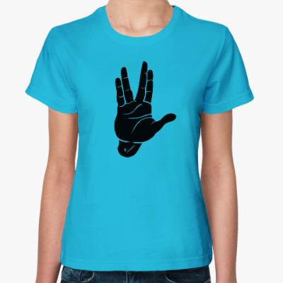 Женская футболка Star Trek жест Спока