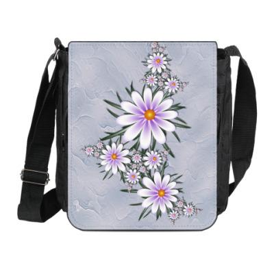 Сумка на плечо (мини-планшет) Нежные цветы