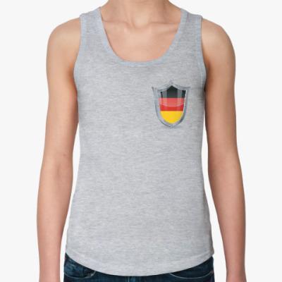 Женская майка Болеем за Германию!