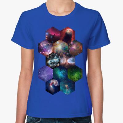 Женская футболка Космический гексагон