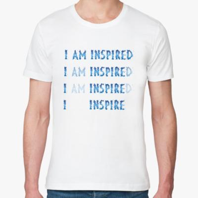 Футболка из органик-хлопка I am inspired & I inspire