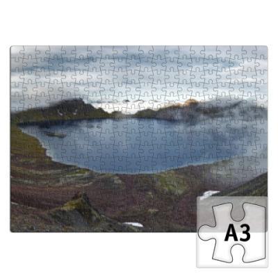 Пазл Камчатка, горное озеро