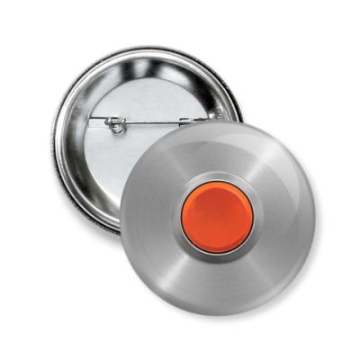 Значок 50мм Красная кнопка
