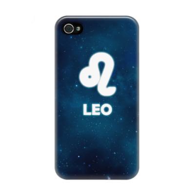 Чехол для iPhone 4/4s Знак зодиака. Лев