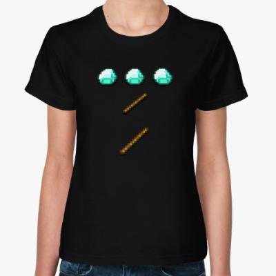 Женская футболка MineCraft - Алмазная кирка