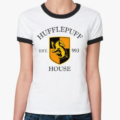 Женская футболка Ringer-T Hufflepuff