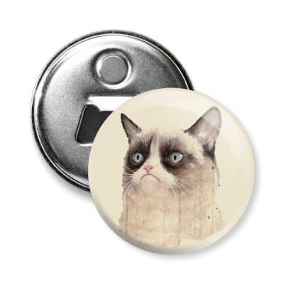 Магнит-открывашка Grumpy Cat / Сердитый Кот
