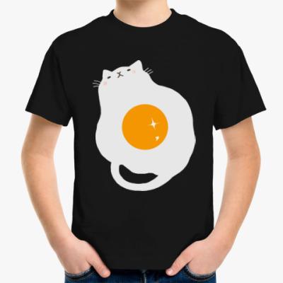 Детская футболка Кот-яичница