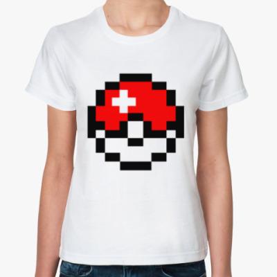 Классическая футболка PixelArt покебол
