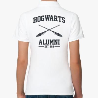 Женская рубашка поло Hogwarts Alumni
