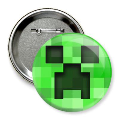 Значок 75мм Minecraft Creeper