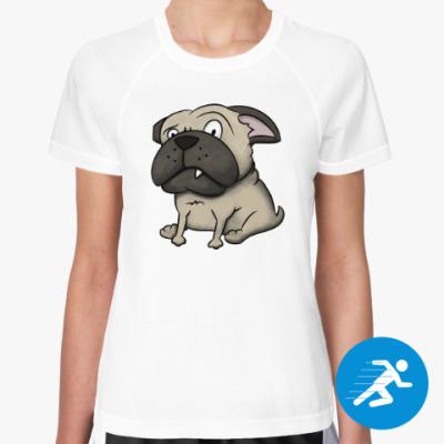 Женская спортивная футболка Собака