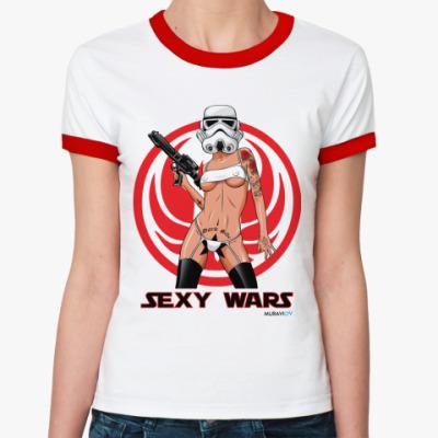 Женская футболка Ringer-T SEXY WARS