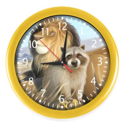Настенные часы Средний лев