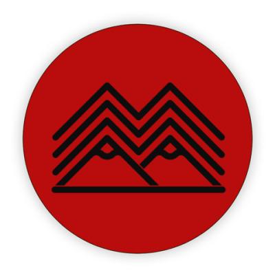 Костер (подставка под кружку) Символ Твин Пикс Twin Peaks