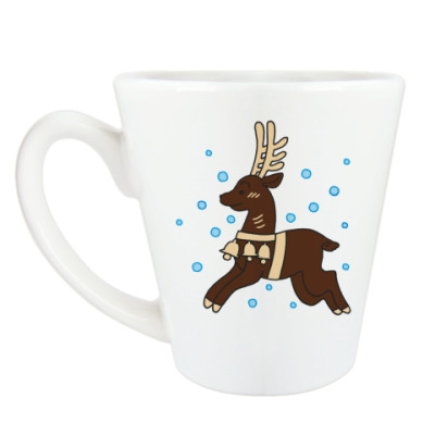 Чашка Латте Оленёнок