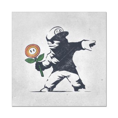 Наклейка (стикер) Граффити Марио