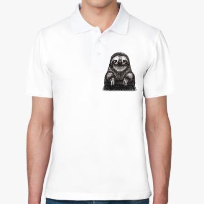 Рубашка поло Ленивец компьютерный