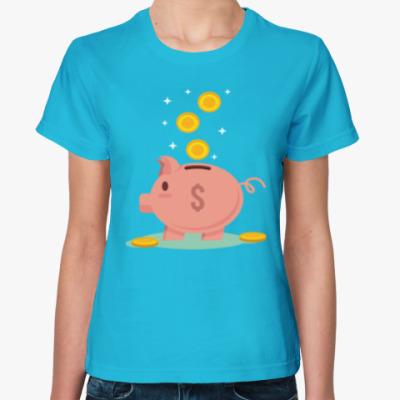 Женская футболка Piggy Bank