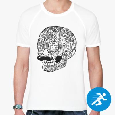 Спортивная футболка Череп с усами