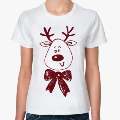 Классическая футболка Рождественский олень