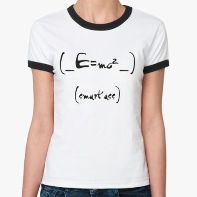 Женская футболка Ringer-T SMART ASS