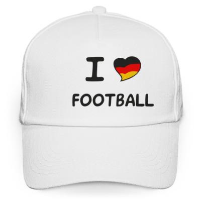 Кепка бейсболка Я люблю немецкий футбол