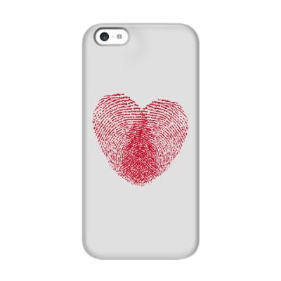 Чехол для iPhone 5c Отпечатки Любви