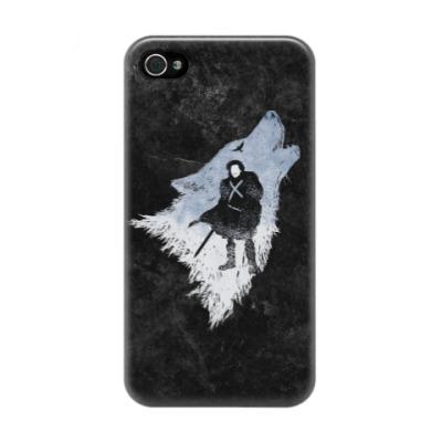 Чехол для iPhone 4/4s Игра Престолов: Джон Сноу